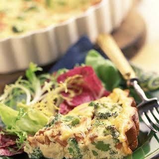 Broccoli, Potato & Bacon Egg Pie with Cheddar.