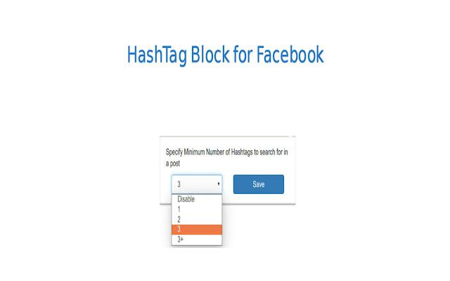 HashTag Block on Facebook