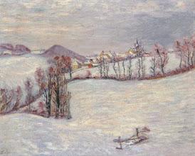 "Photo: Jean Baptiste Armand Guillaumin, ""Saint-Sauve sotto la neve"" (1899 ca.)"