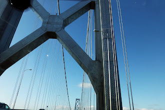 """Photo: Anya knew this was the Oakland Bridge, not Golden Gate, since it had """"X""""s."""