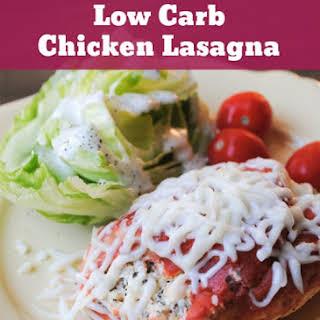 Low Carb Chicken Lasagna.