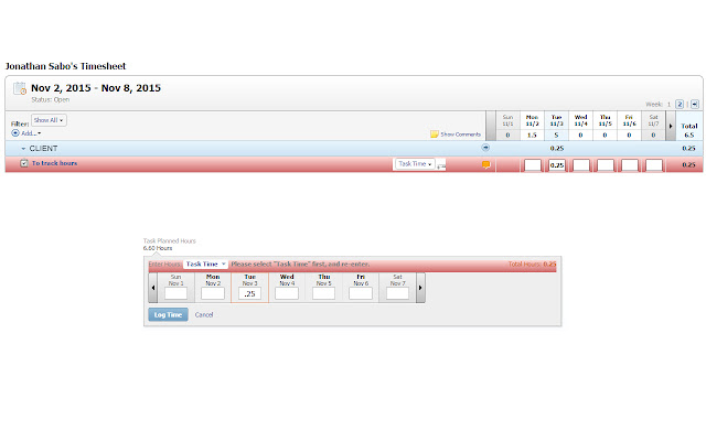 Jon Sabo's workfront task time checker