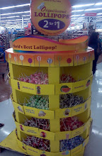 Photo: The lollipop display was literally in the middle of the aisle that you walk down, my daughters picked out a flavor. I was tempted but chose not to get one.