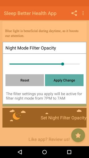 Night Shift: Blue Light Filter  screenshots 3
