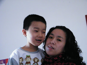 Photo: baby son, warrenzh, 朱楚甲 turned shy in his new clothes his mom, emakingir, prepared.