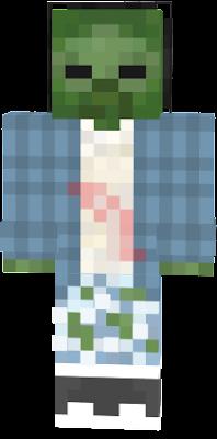 зомби в зимней одежде с рваными штанами