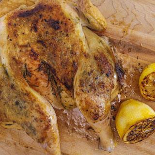 Rosemary-Garlic Chicken Under a Brick.