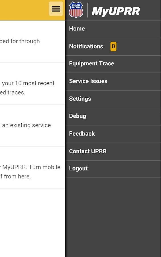 MyUPRR Mobile- screenshot