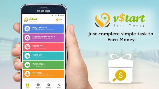 Vstart earn money make cash is number 1 app to earn money amp get