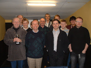 Photo: 2010/2011 Wiltshire Chess Championship entrants Top row (l-r) Mike Rabbitt, Adrian Champion, Luke Burroughs and Jordan Isgin Middle row Adam Burroughs, Louis Burton and Simon Garnett Bottom row Tony Ransom (organiser), Roy Ludlow, Phil Owen and Wayne Hearne Not shown Richard Haydon, Mervyn Lovell and Peter Richmond Brown Jack 7th February 2011
