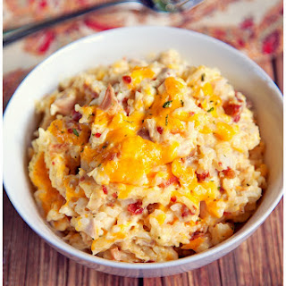 Cracked Out Chicken and Rice Bake.