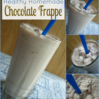 Healthy Homemade Chocolate Frappe