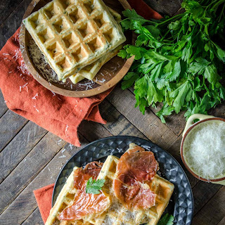 Parmesan and Parsley Savory Waffles Recipe