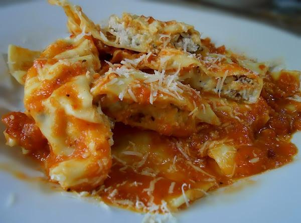 Cheese Ravioli With Roasted Veggie Sauce Recipe