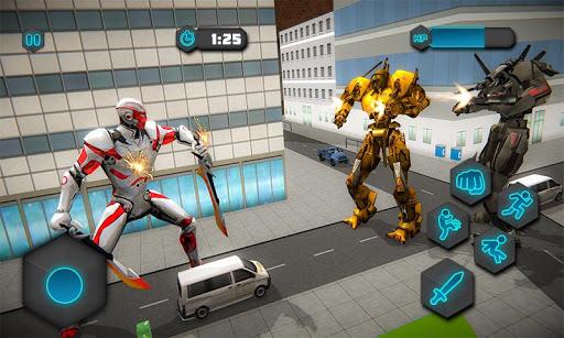 Dual Sword Hero Robot Transforming 3D screenshots 3
