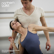 Photo: Northern Ballet dancers Martha Leebolt and Tobias Batley in rehearsals for Cleopatra. Photo Justin Slee.
