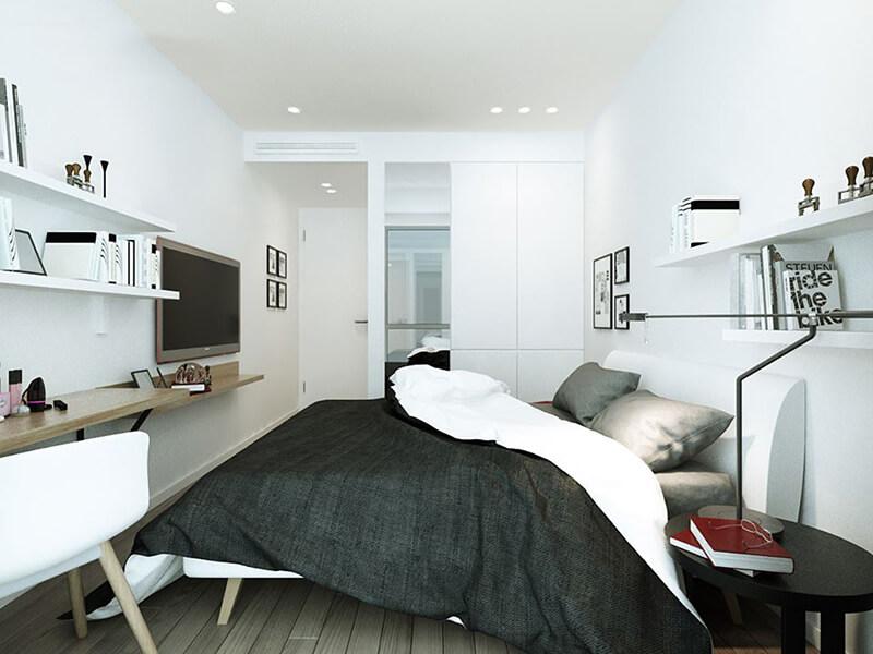 Sử dụng những tông màu thanh lịch trong phòng ngủ