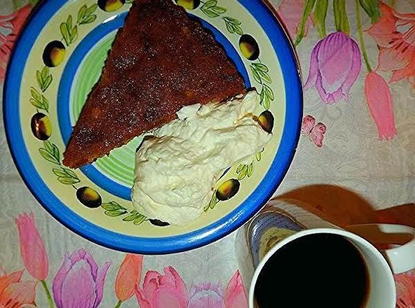 Tipsy Tart With Cream