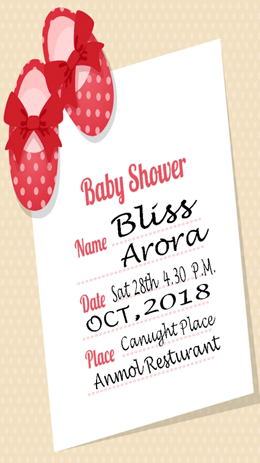 Baby shower invitation maker android apps on google play baby shower invitation maker screenshot stopboris Images