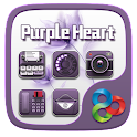 Purple Heart GO Launcher Theme icon