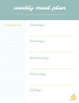 Weekly Meal Plan - Weekly Schedule item