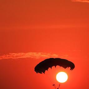 Sunset Parachuting... by Bambang Leksmono - Sports & Fitness Other Sports