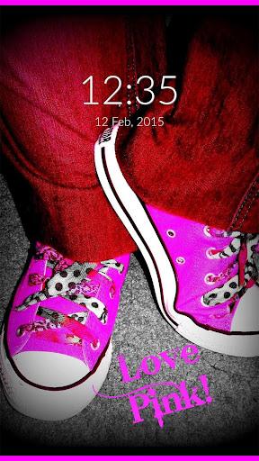 Pink Love Wall Lock