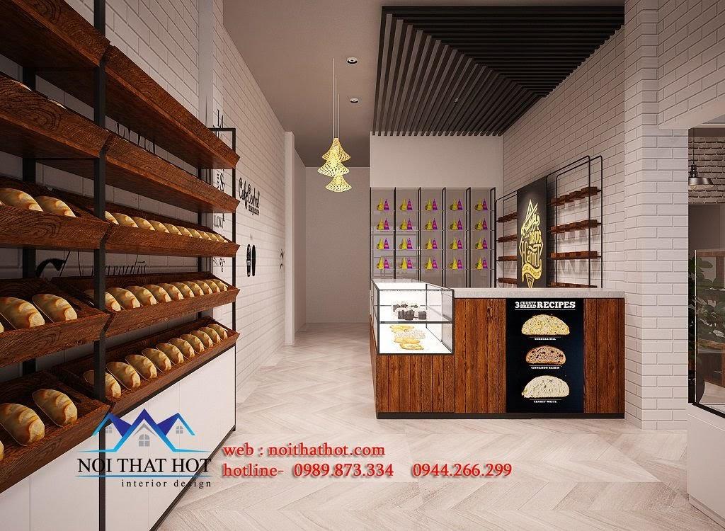 thiết kế cửa hàng bánh đơn giản