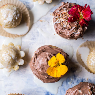 Coconut Banana 3-Milk Cupcakes with Nutella Buttercream.