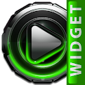Poweramp widget Green Glow icon