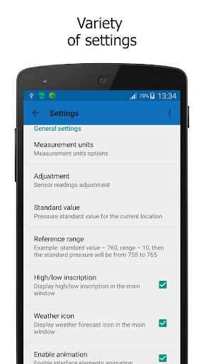 Barometer In Status Bar Lite 2.1.0 screenshots 5