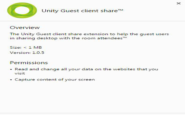 Unity Guest client share™
