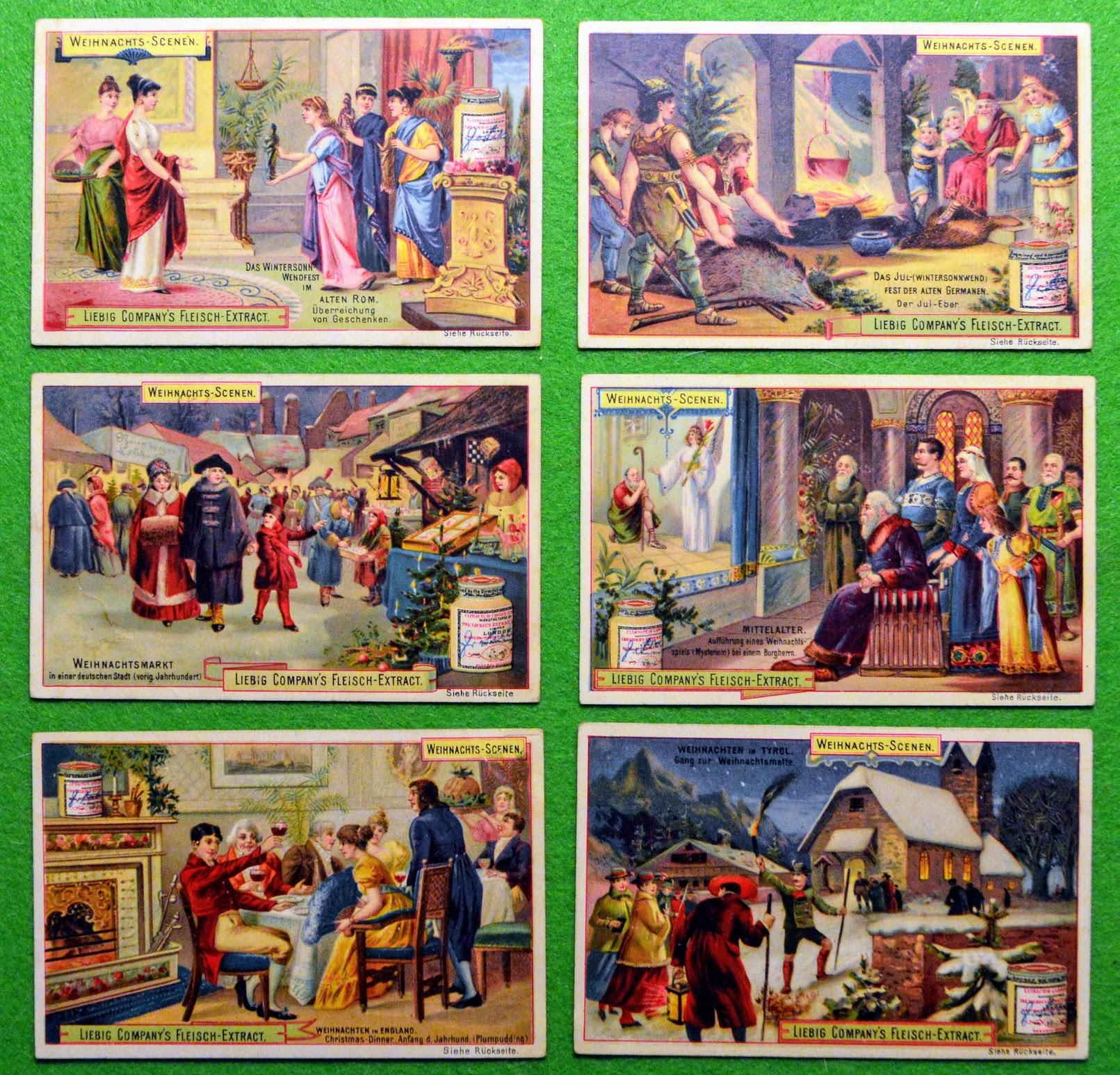 Weihnachts-Scenen - Liebig-Bilder - 1894