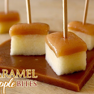 Amaretto-Spiked Caramel Apple Bites