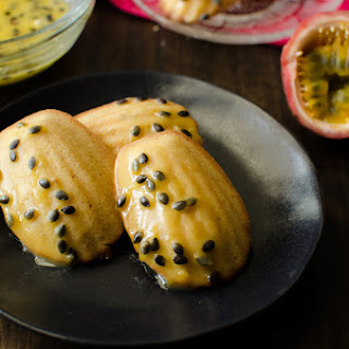 Brown Butter Madeleines with Passion fruit Glaze