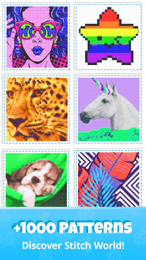 Cross Stitch Gold: Color By Number, Sewing pattern apkmartins screenshots 1
