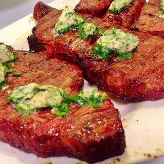 Beef Steaks with Seasoned Butter Recipe