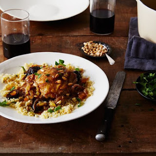 Moroccan Chicken Tagine with Figs and Apricots.