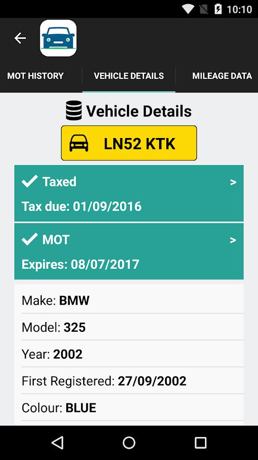Mot check online due date