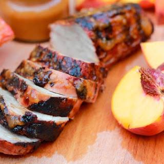 Grilled Pork Tenderloin with BBQ Peach Sauce