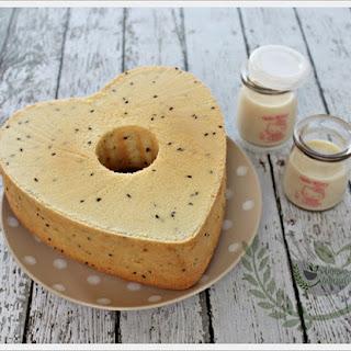 Soy Milk Almond Chiffon Cake Recipe