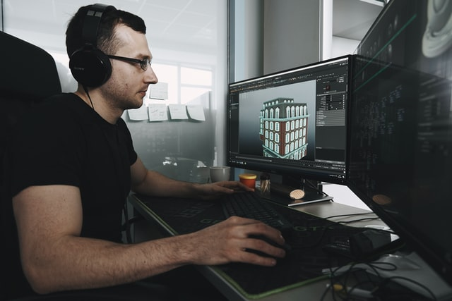 3d modelling artist rendering a product design