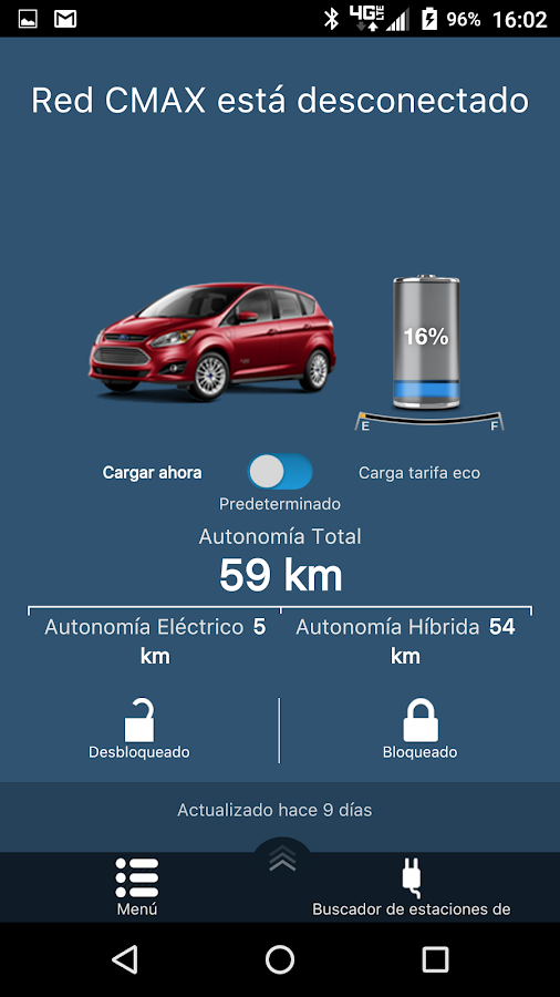 MyFord Mobile: captura de pantalla
