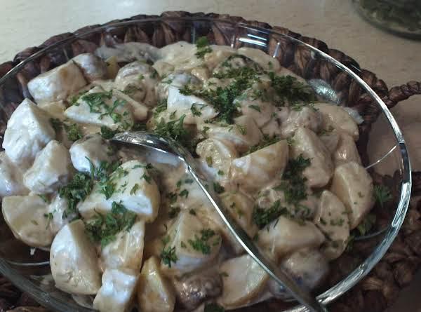 Potatoes W/ Mushrooms & Green Onions
