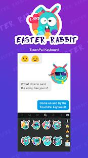 Easter Rabbit Keyboard Sticker - náhled