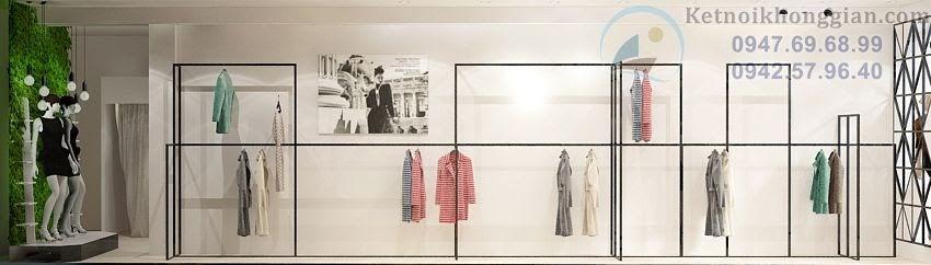 thiết kế shop thời trang công sở có chiều sâu
