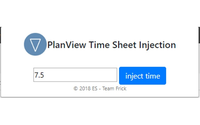 PlanView Time Injection Service