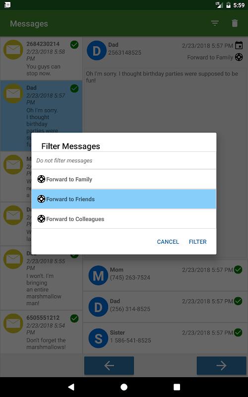 Message Forwarder - SMS, MMS, and Call Forwarding screenshots
