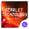 Cool red technology-APUS Launcher free theme icon