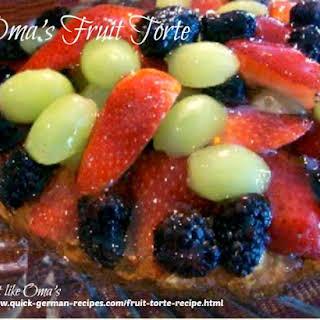 Oma's German Fruit Torte.